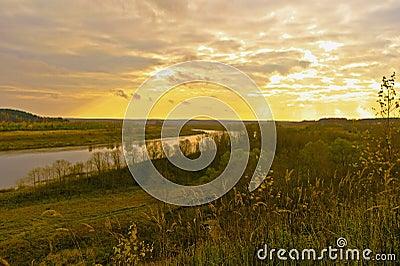 Autumn Evening on the Volga