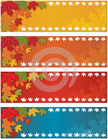 Autumn Fall Banner Vector Illustration