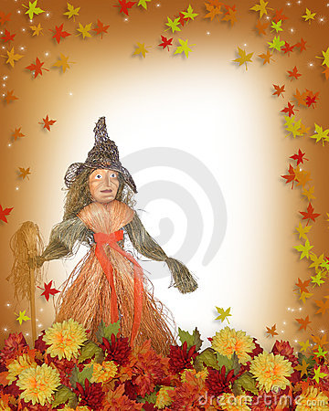 Autumn Fall border Halloween