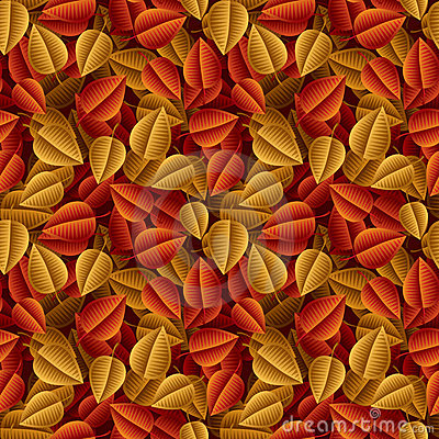 Autumn fallen leaves seamless pattern