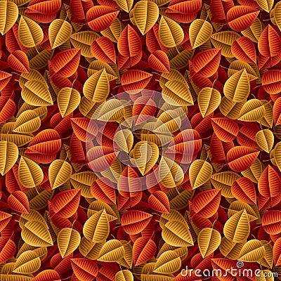 Autumn fallen leaves seamless pattern