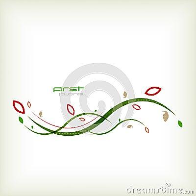 Autumn floral minimal background