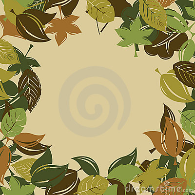 Autumn foliage background