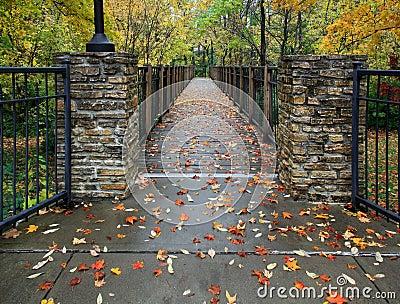 Autumn Foot Bridge