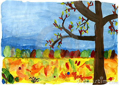 Autumn forest - hand drawn illustration