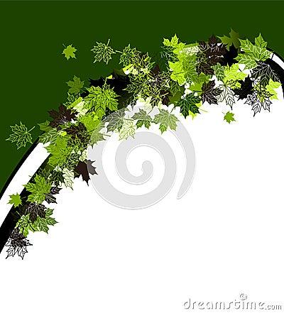 Autumn frame: maple leaf.