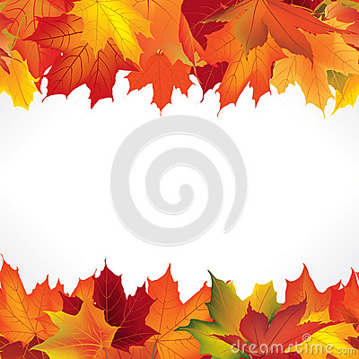 Free Autumn Frame With Leaves. Fall Leaf Seamless Border Royalty Free Stock Images - 46690789