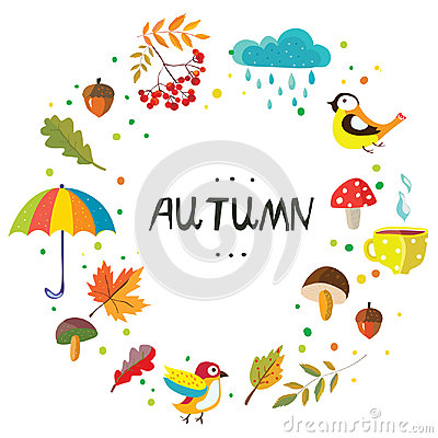 Free Autumn Frame With The Nature Elements And Weather Royalty Free Stock Images - 98365289