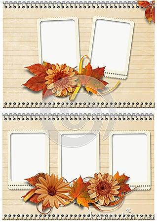 Autumn frames set