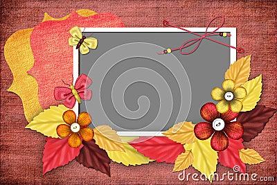 Autumn framework for photo