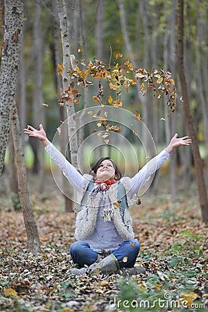 Free Autumn Girl Royalty Free Stock Image - 22121466