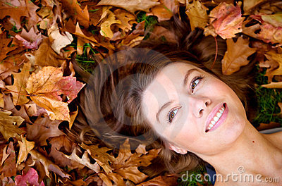 Autumn girl portrait