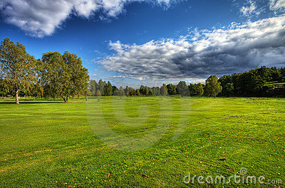 Autumn golf course in Sweden