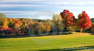 Autumn Golf Fairway