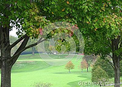 Autumn Golf Hole