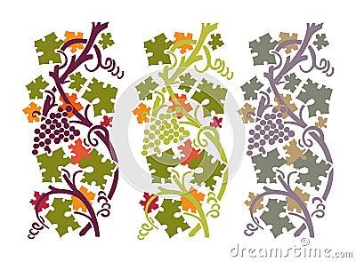 Autumn grapevine