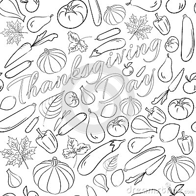 Fall fruit coloring pages ~ Autumn Graphic Seamless Pattern With Fruits And Vegetables ...