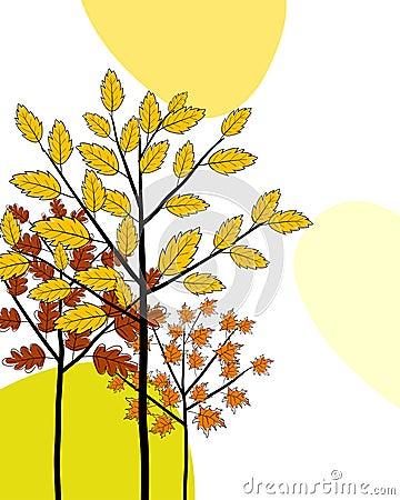 Autumn greeting doodle card