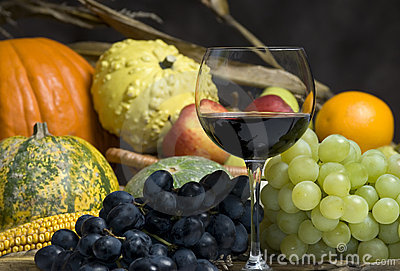 Autumn harvest and wine