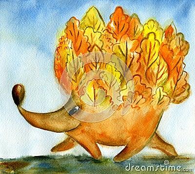 Free Autumn Hedgehog Stock Photography - 27037932