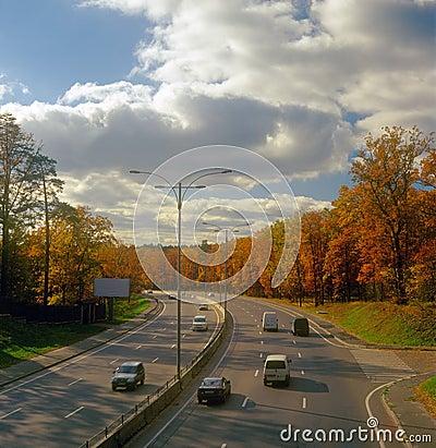 Autumn highway.