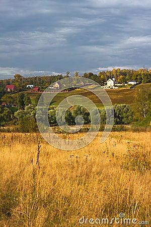 Autumn hills before a rain