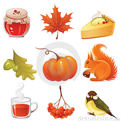 Free Autumn Icon Set Stock Image - 6453951