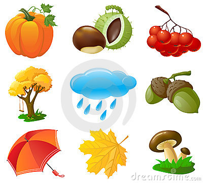 Free Autumn Icons Stock Image - 15434351