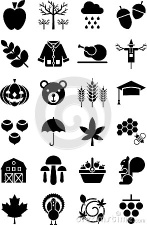Autumn icons