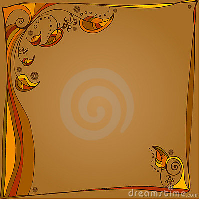 Autumn illustrated background