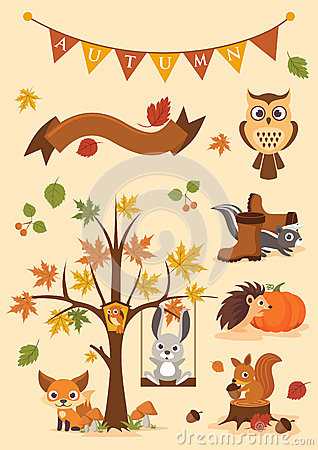 Autumn illustration Stock Photo