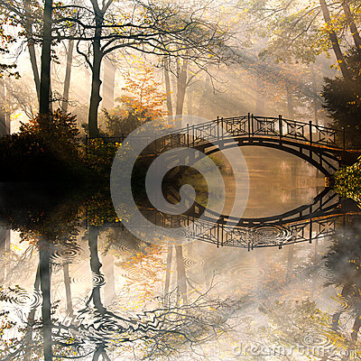 Free Autumn In Misty Park Stock Photos - 27045313