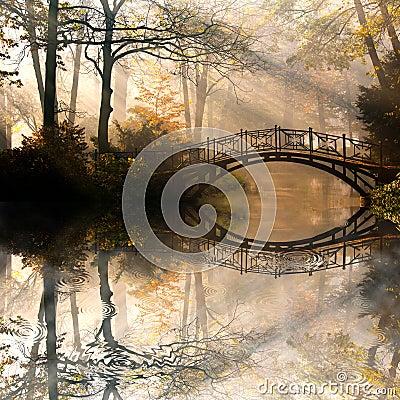 Free Autumn In Misty Park Stock Photos - 27045313