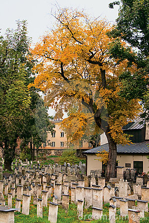Autumn in a Jewish cemetery