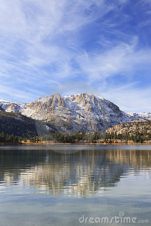 Autumn at June Lake in California