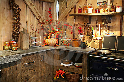 Autumn in kitchen