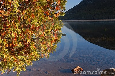 Autumn  lake in Maine