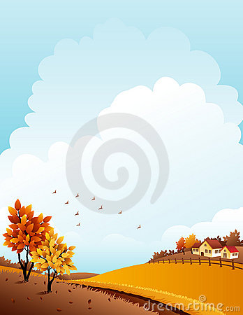 Free Autumn Landscape Royalty Free Stock Image - 16042376
