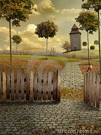 Free Autumn Landscape Royalty Free Stock Image - 16555036