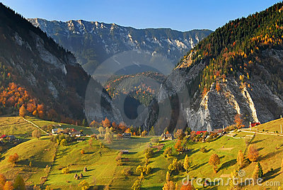 Autumn landscape panorama romania