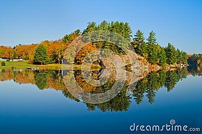 Autumn Landscape with Reflection