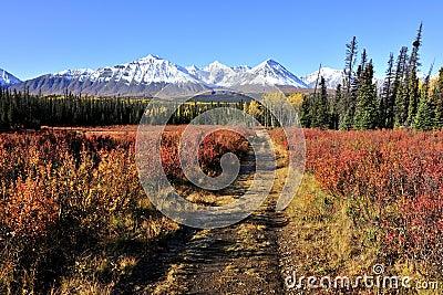 Autumn landscape of Unesco world heritage