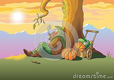 Autumn last leaf