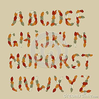 Autumn Latin Alphabet