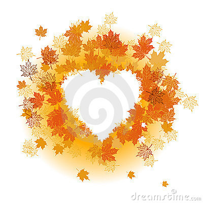 Autumn leaf: heart shape.