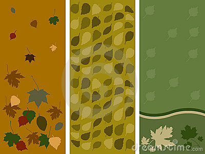 Autumn leaf panels