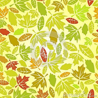 Autumn leaf seamless