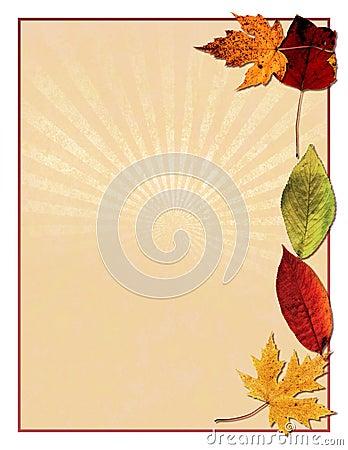 Autumn leaved bird