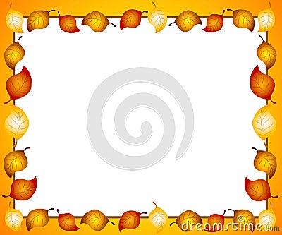 Autumn Leaves Border or Frame