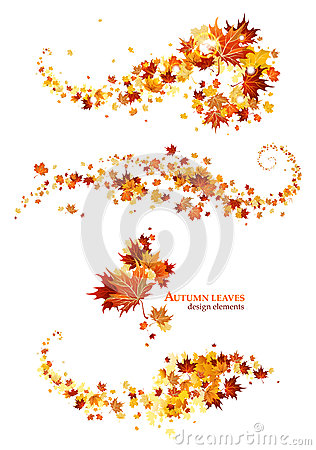 Free Autumn Leaves Design Elements Stock Photography - 32184882